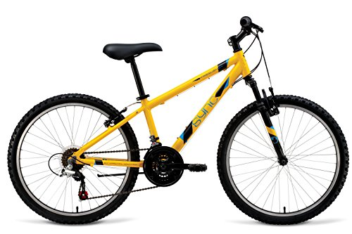 "Sync Frequency 24"" Hardtail Boys Mountain Bike Yellow 18 Speed"