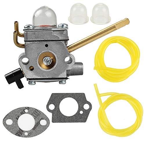 Venseri 308028007 Carburetor with Gasket + Primer Bulb + Fuel Line for Homelite UT08520 UT08550 UT08921 UT08951 26CC Blower 308028007