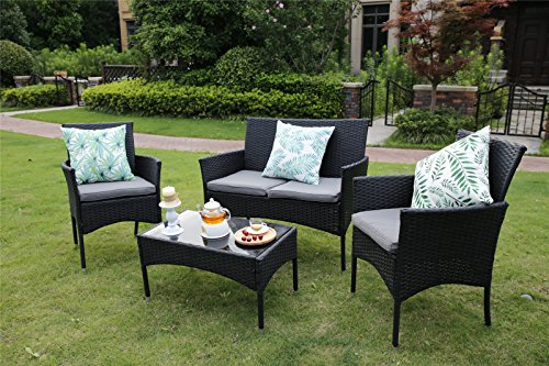 YAKOE-Eton-Range-Outdoor-Rattan-Garden-Furniture-Sofa-Set-Black-106x59x48-cm