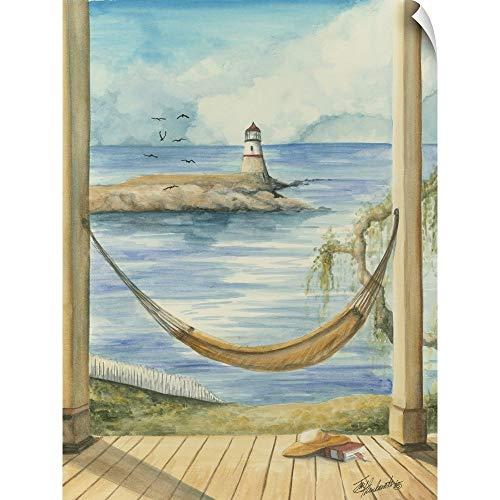 Canvas on Demand Jay Throckmorton Wall Peel Wall Art Print Entitled Lighthouse View II 23