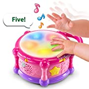 LeapFrog Learn and Groove Color Play Drum Bilingual, Amazon Exclusive, Pink