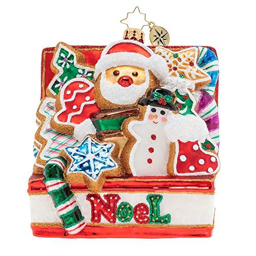 Christopher Radko Noel Cookies Better Christmas Ornament, Red, White, Green ()