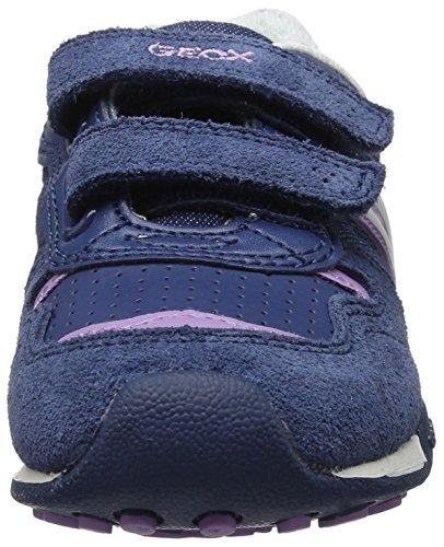 Geox Jr New Jocker a, Zapatillas Para Niñas Azul (Avio/lilacc4259)