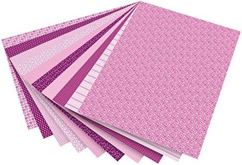 folia 46309 - Motivkarton Basics rosa sortiert, 50 x 70 cm, 270 g/qm, 10 Bogen - Grundlage für vielfältige Bastelarbeiten und -ideen