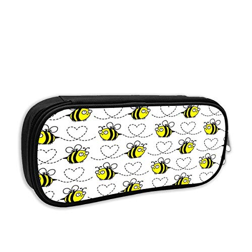 - TGDFDSDF89 Bumblebees White Pencil Pen Case Bag Stationery Pouch Bag for Kids,School Student School Supplies,Office Supplies
