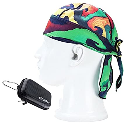 2f9f1f46c10 JHGJ High-Performance Mesh Dew Rag Cooling Skull Cap for  Riding Sweatband Skiing