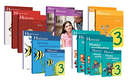 Horizons Homeschool Curriculum 3rd Grade 3, Complete Set (Set Includes: Math, Health, Penmanship, Phonics & Reading, Spelling & Vocabulary) ()