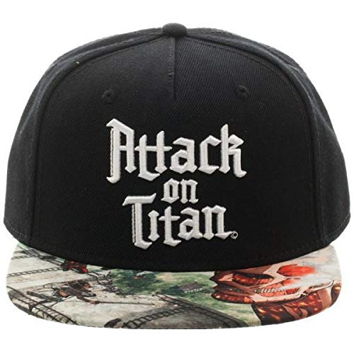 Attack On Titan Sublimated Bill Snapback Hat Black for $<!--$17.98-->