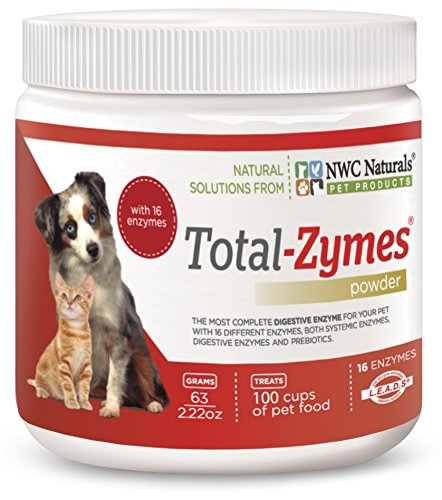 NWC Naturals- Total-Zymes - Enzymes for Canines and Felines - Treats 100 Cups of Pet Food (Vegetarian Formula)