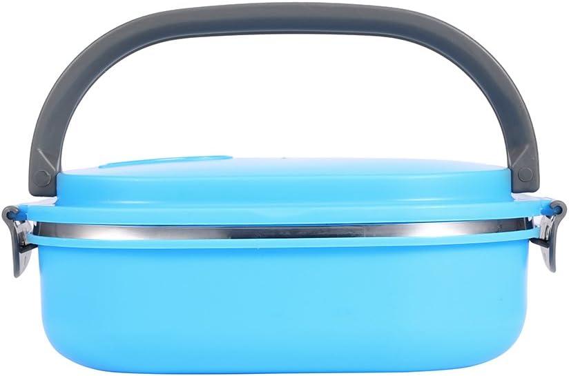 Arancione 1capas ZJchao Porta Pranzo impilabile Portatile in Acciaio Inossidabile per Isolamento Contenitore Termico di contenitori Alimentari Strati ermetici Termico con Manico
