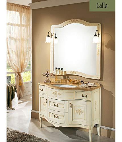Mobili Arredo Bagno Stile Classico.Calla Decorato Mobile Da Bagno In Stile Classico Bianco