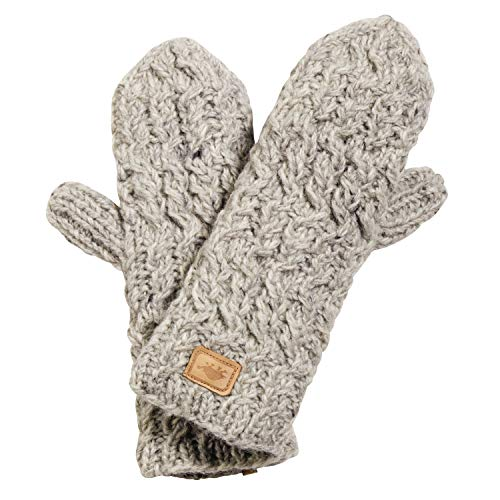 Turtle Fur Mika Mittens Nepal Hand Knit Wool Mitten Lined/Fleece Smoke (Turtle Fur Fur Gloves)