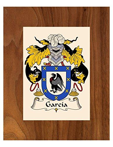Carpe Diem Designs Garcia Coat of Arms/Garcia Family Crest 8X10 Photo Plaque, Personalized Gift, Wedding Gift