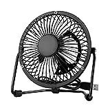 EasyAcc Mini USB 4 Inch Fan Desktop Fan Perfect for Laptop Notebook PC Desk Table Fan - Metal Black
