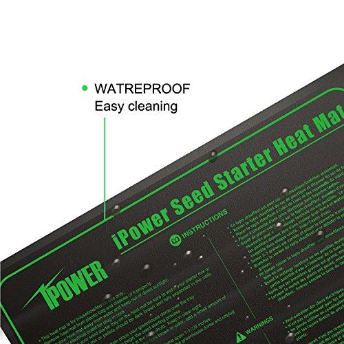 iPower Durable Waterproof Seedling Heat Mat