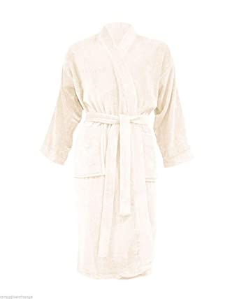 FASHIONCHIC Ladies Women Men s Unisex Luxury Egyptian 100% Cotton Hooded Towelling  Dressing Gown Terry Towel ccc5d3863