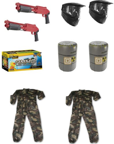 JT Splatmaster Z200 Shotgun Backyard Set Up With Youth Paintball Coveralls