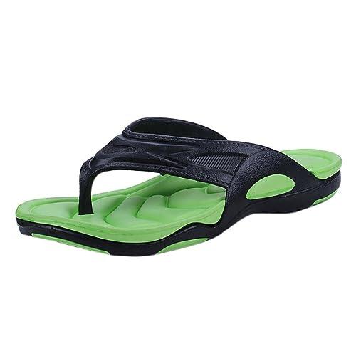 Vectry Sandalen Damen Absatz Plateau Flach Keilabsatz Schuhe Damen Schuhe Gladiator Leder - Herren Damen Flip