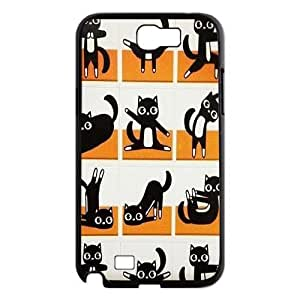 Yoga Cats Use Your Own Image Phone Case for Samsung Galaxy Note 2 N7100,customized case cover ygtg572436 WANGJING JINDA