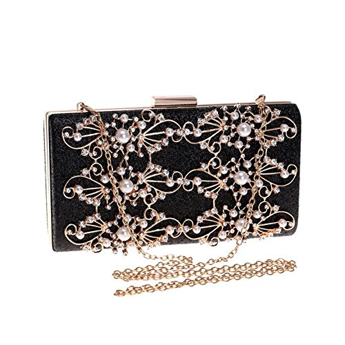 Silver Out Handbag Dress Orfila Shoulder Party Clutch Evening Wedding Bridal Glitter Women's Diamond qwgBEg4x7