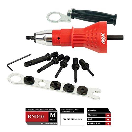 RND Rivet Nut Drill Adapter (Metric) by AVAK