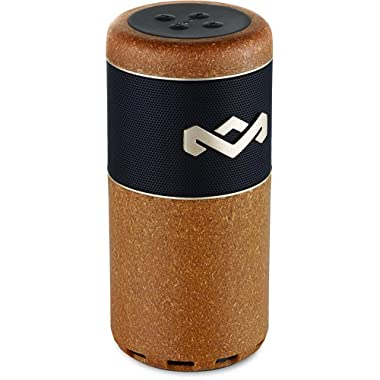 House of Marley, Chant Sport Bluetooth Speaker, Designed to Float, Waterproof/Dust Resistant IP67, Integrated Mic, Fits In Most Cup Holders & Bottle Cages, Carabiner Clip, Outdoor, EM-JA009-NL Natural