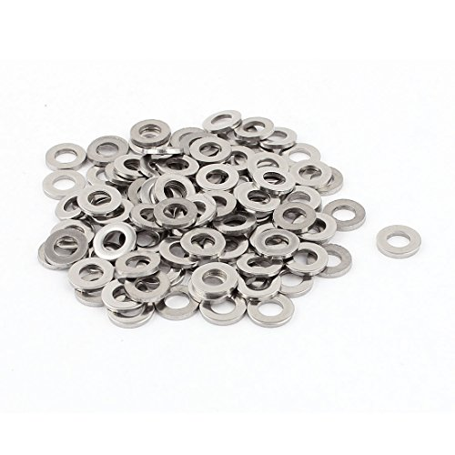 uxcell a15071300ux0536 M6 x 12mm x 1.5mm Stainless Steel Flat Washer for Screw Bolt (Pack of 100)