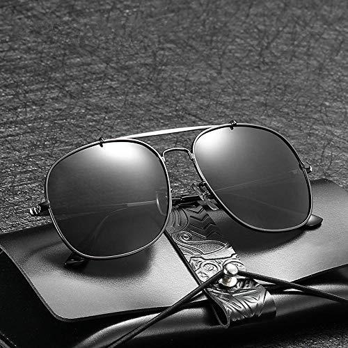 Sol de Hombres los Gafas Sol de Aviator ZhongYi Retro polarizado de Gafas D Sol Gafas de Metal de wEUHWUxC1