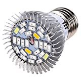 SODIAL(R) 28W Full Spectrum E27 Led Grow Light Growing Lamp Light Bulb For Flower Plant
