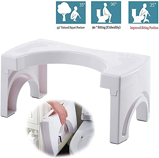 Amazon Com Oldwang Squatting Toilet Stool Loo Stool Foldable Stool Toilet Sqatty Squaty Potty Toilet Step Adult Constipation Stool Squat Stool For Toilet Bathroom Home Kitchen