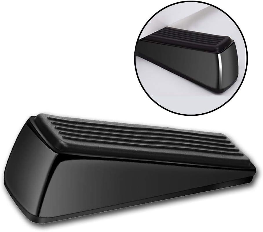 Resistant Bottom Design Robust Door Wedge Safe for All Floor Strongest Door Stopper Stainless Steel and Rubber Heavy Duty Non-Scratching and Anti-Slip Doorstop Avoid Drilling Holes Slip
