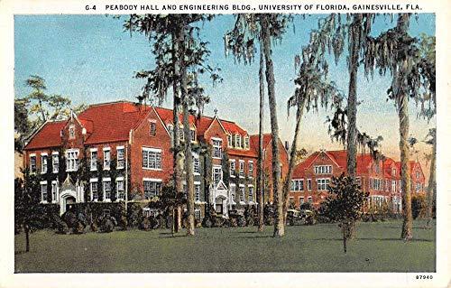 Gainesville Florida University Peabody Hall Antique Postcard K105929