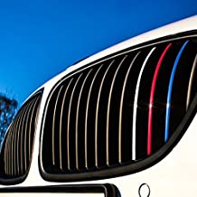 Wandkings Grille Stripe Decals for Kidney Grills - REFLECTIVE Colors (Dark Blue, Red, White-Silver, Light Blue)