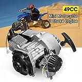 49cc 2-Stroke CDI Hand Pull Start Engine Motor For Pocket Bike Mini Dirt Bike ATV Scooter
