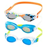 Speedo Kids Swim Goggles Triple Goggle Pack ~ Fun Prints (Green)