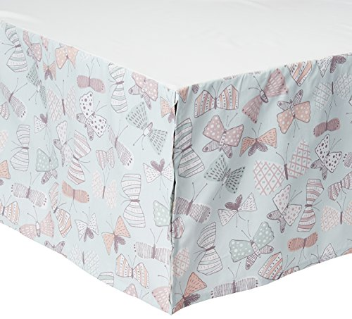 DwellStudio Arden Butterfly Print Crib Skirt, ()