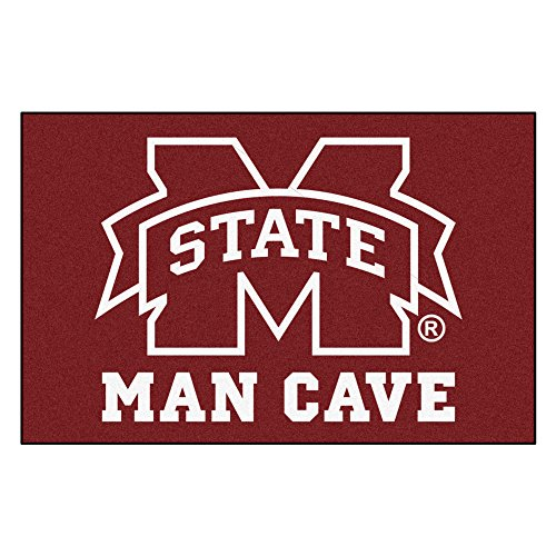 State Mississippi University Alumni - FANMATS 14572 Mississippi State University Nylon Universal Man Cave Starter Rug