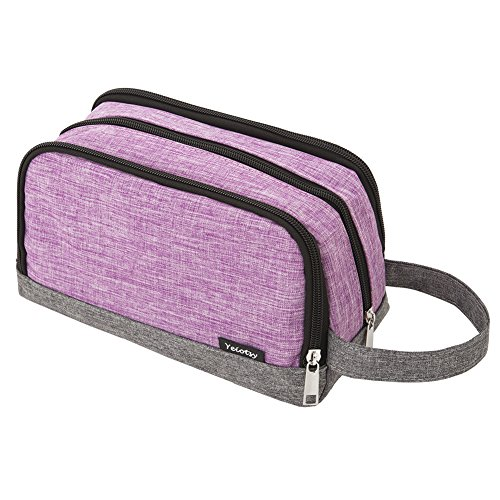 Toiletry Bag Small, Yeiotsy Color Clash Durable Toiletry Bag for Kids (Purple)