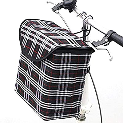 Cat Basket Dailyfun Bike Basket with Cover, Small Pet Cat Dog Carrier Front Removable Bicycle Basket, 600D Canv [tag]