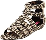 Betsey Johnson Women's Aeroo Wedge Sandal,Zebra,8.5 M US