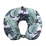 BOYANN Tropical Plants Leaves Microbeads Travel Pillows Neck Support Cushion Pattern 5