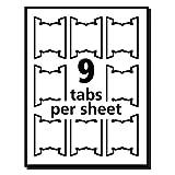 Avery 5567 Print/Write-On Hanging Tabs, 1/5
