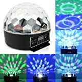 Digital RGB LED Crystal Magic Ball Remote Control Stage Effect Light 6 Patterns For Sale