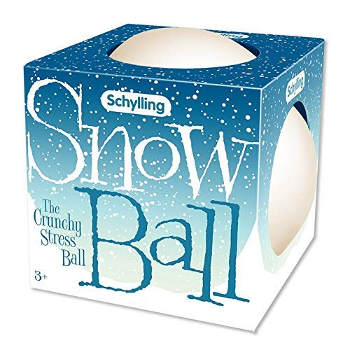 Schylling Snow Ball Crunch Stress Squeeze Ball