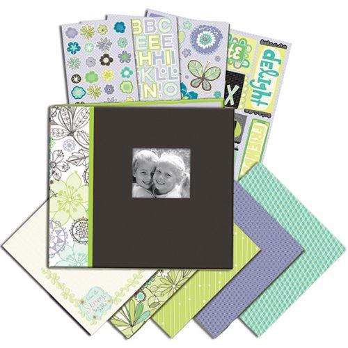 (K&Company 8-1/2-Inch by 8-1/2-Inch Mega Scrapbook Kit, Black/White)