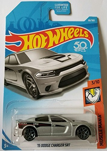 Hot Wheels 2018 50th Anniversary Muscle Mania '15 Dodge Charger SRT 66/365, Silver