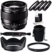Fujifilm XF 23mm f/1.4 R Lens + 62mm +1 +2 +4 +10 Close-Up Macro Filter Set with Pouch + 62mm Multicoated UV Filter Bundle 5