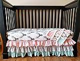 Woodland Crib Set for Baby Girl