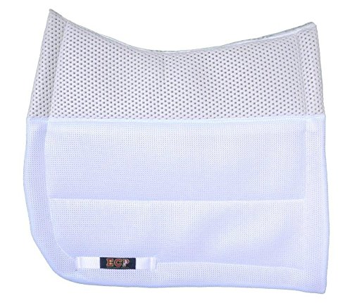 Contour Dressage Pad - ECP Grip Tech Dressage Pad White