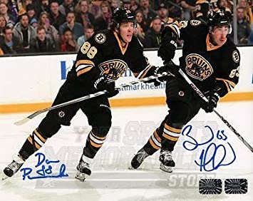 David Pastrnak Brad Marchand Boston Bruins Signed Autographed Home Action  16x20 fbf9f3892